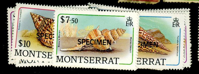 Montserrat #681-96 MINT Specimen Set F-VF OG NH