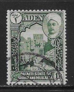 Aden Quaiti State of Shihr and Mukalla 9 1r Governor's Castle Used