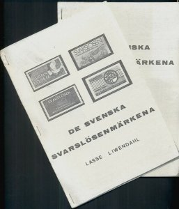 SWEDEN SVARS LOSEN STAMPS WITH SUPPLEMENT INSERT, WRITTEN IN SWEDISH, 33 PAGES