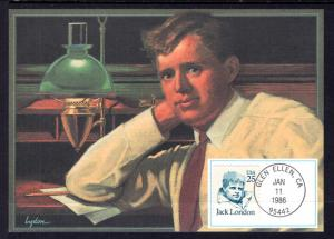 US 2182 Jack London Fleetwood Unicover Maxi Card U/A FDC
