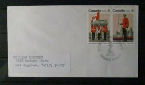 Canada #692-693 FDC with #693iv Variety.