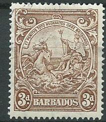 Barbados SG 252b spacefiller hinged w/ gum and cancel per...