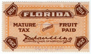 (I.B) US Revenue : Citrus Tax Paid 25c (Florida)