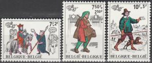 Belgium #B1015-7 MNH  (S2112)