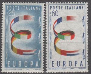 Italy #726-7 F-VF Unused CV $6.25 (ST1830)