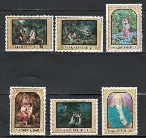 Mauritius 1968 Bernandin de St. Pierre Scott # 333 - 338 MH