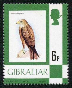 Gibraltar SG381w 1977 6p Black Kite Wmk INVERTED U/M Cat 180 pounds