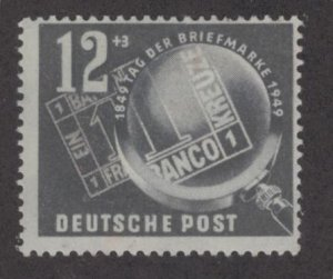 DDR B14 MINT HINGED, STAMP ON STAMP ISSUE 1949