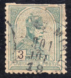 Hongrie Sc#65a Utilisé Défauts Perf 11 1/2 ( Scv $1500 )