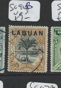 LABUAN  (P2201B) 3C TREE SG 91B   VFU