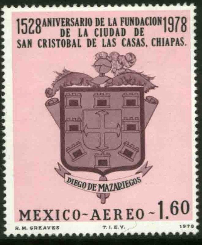 MEXICO C558 400th Anniv S. Cristobal de las Casas MINT, NH. VF.