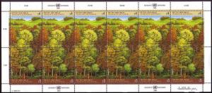 UN Vienna Survival of the Forests sheetlet SG#306-307