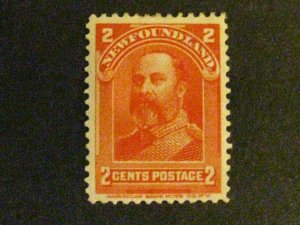 Newfoundland #82 mint hinged heavy hinge remnant a1910.9798