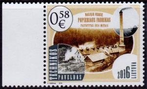 Lithuania 1073 MNH - Paper Factory - 2016