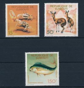 [29828] Djibouti 1977 Animals Fauna Crab Antilope Fish MNH