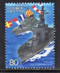JAPAN SC# 2834 USED 80y 2002  INT. FLEET REVIEW SEE SCAN