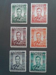 Southern Rhodesia 42-47 F-VF MH. Scott $ 5.05