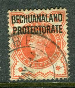 BECHUANALAND; 1897 early classic QV issue fine used 1/2d. value