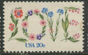 USA - Scott 1951 - Love Issue - 1981-MLH - Single 20c Stamp