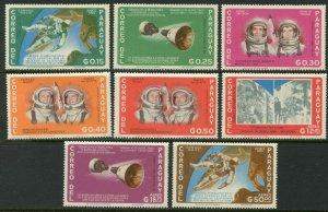 PARAGUAY Sc#911-918 1966 US Space Exploration Complete OG Mint LH
