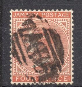 Jamaica 1883 Early Issue Fine Used 4d. Crown C.A 189739