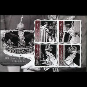 GIBRALTAR 2003 - Scott# 927a S/S Coronation NH