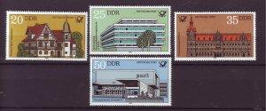 J25335 JLstamps 1982 germany DDR mnh set #2237-40 post offices