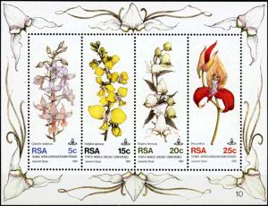 South Africa MNH S/S 556a 10th World Orchid Conference 1981