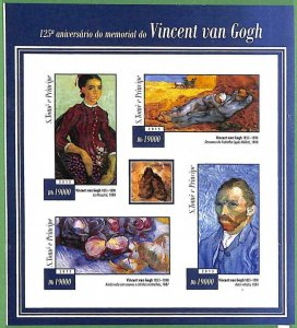 A3521-Sao Tome & Principe ERROR INPERF 2015  Art Vincent Van Gogh