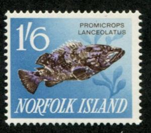 Norfolk Island SC# 58 Queensland Grouper Fish 1sh6d MNH