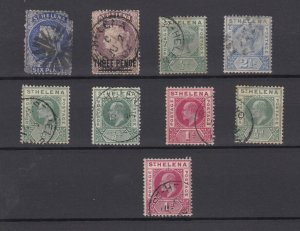 St Helena QV/KEVII Collection Of 9 Values Fine Used JK6272
