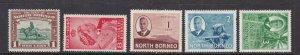 NORTH BORNEO ^^^^^^#193//247  x5 older  mint hinged  $$@ lar 402norb