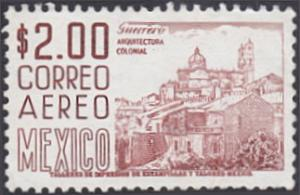 Mexico # C290 used ~ 2p Guerro, View of Taxo, rd brn