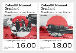 2020 Greenland Ancient Postal Routes Europa (2) (Scott NA) MNH