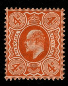 GB SGM26(2) 1911 4d DEEP BRIGHT ORANGE HARRISON p14 MTD MINT