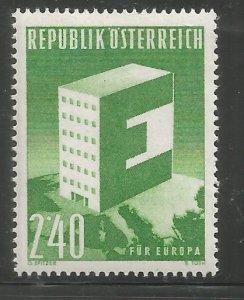 AUSTRIA  637  HINGED,  IDEA OF A UNITED EUROPE