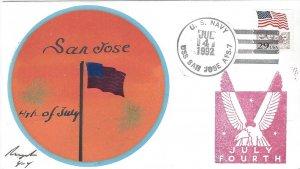 USS San Jose AFS 7  US Navy July 4th  Rogak Cover