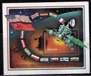 GRENADA SHEET SPACE EXPLORATION MARS SPACECRAFT