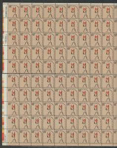 #1610 VAR SHEET/100 SEPARATION AT MIDDLE YELLOW & ORANGE SHIFTED ERROR WLM1441