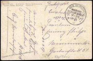 Germany WWI Navy SMS Kronprinz MSP93 Feldpost Cover 75493