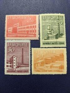 Albania 697-700 VF-XFNH complete set, CV $22.40