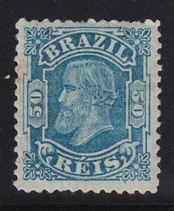 Brazil 1881 50r Blue Small Head M Mint. Scott 79