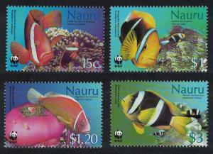 Nauru WWF Anemones and Anemonefish 4v SG#566-569 MI#553-556 SC#514-517 SALE