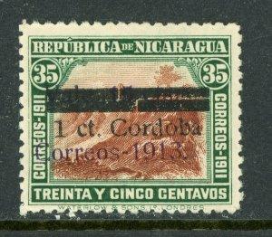 Nicaragua 1913 Liberty Overprint 1¢/15¢/35¢ Scott 339 MNH O377