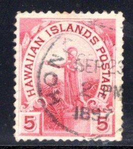 Hawaii #76, Honolulu cancel dated Sep 23, 1897