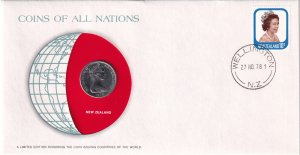 1978, New Zealand: Coins of all Nations Cover (E11949)