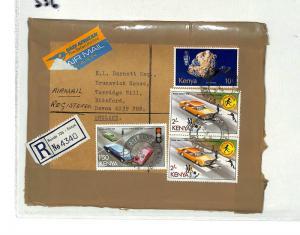 SS6 1978 Nairobi Kenya to GB Devon/Registered/Airmail
