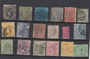 Victoria State QV Collection Of 18 Fine Used JK6321