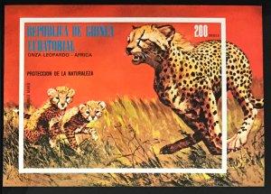 Equatorial Guinea #MiBl146 MNH S/S CV€7.50 Cheetah Acinonyx jubatus