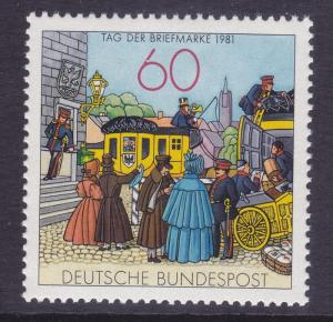 Germany 1361 MNH OG 1981 Mail Coach - Stamp Day Issue Very Fine